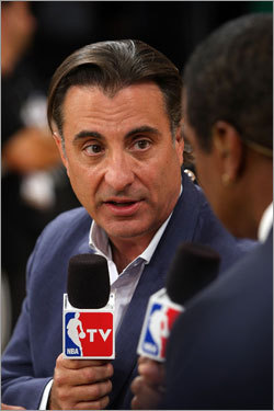 Actor Andy Garcia was interviewed before the game.