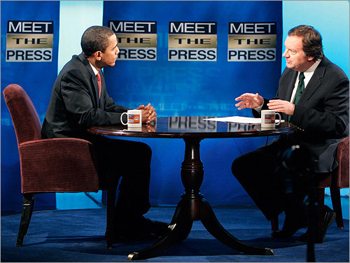 Obama and Russert