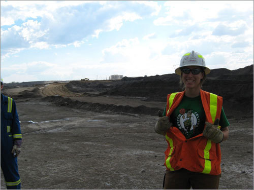 Megan's an Ipswich native, but works as a geologist north of Fort McMurray, Alberta, Canada. Send us your Celtics fan photos!