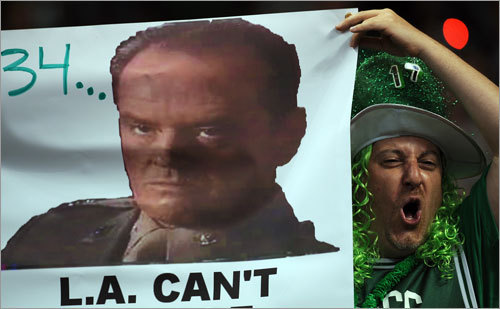 This fan did his own take on Jack Nicholson's oft-quoted line from 'A Few Good Men.'