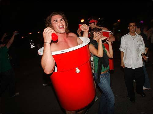 Did you celebrate the Celtics' NBA Finals win over the Lakers by dressing up as a Solo Cup? Probably not, but there were plenty of fans out celebrating the C's 17th NBA title.