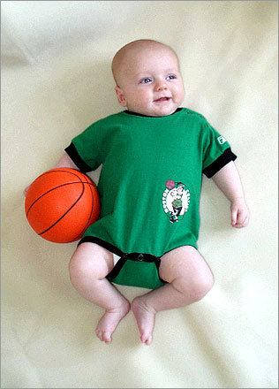 Little Michael loves the Celtics and his parents say he will be dribbling before you know it! Send us your Celtics fan photos!