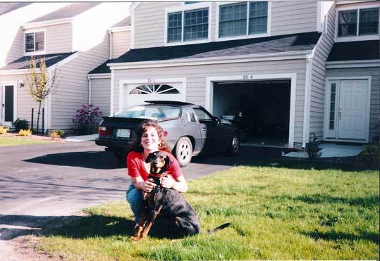 Marcie Fusillo Martini, a 32-year-old woman who was murdered in her Walpole townhouse on July 10, 1996. Her murder remains unsolved. She is shown with her dog, Rocky.