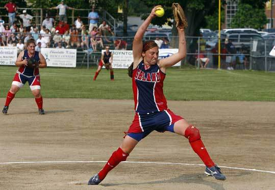 Nicole D'Argento in action Saturday during Ashland's state championship win over Hudson.