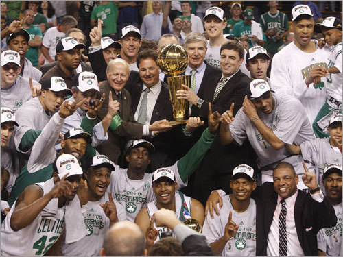 After the 2008 NBA Finals, Boston Globe columnist Bob Ryan ranked the top 10 all-time greatest Celtics squads. Here's his list. We'll wait until the 2009-10 season concludes to consider any updates.