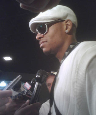 Ray Allen addressed the media as he arrived at the Garden.