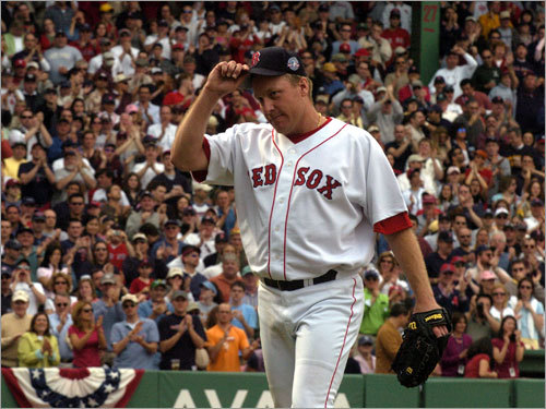 Part of the rivalry Everybody was watching when Schilling took the mound against the Yankees as a Red Sox pitcher for the first time on April 17, 2004. Schilling didn't disappoint, firing 6 1/3 innings while whiffing eight and allowing just one run en route to a 5-2 Red Sox win.