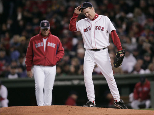 Tribe troubles Schilling got rocked in Game 2 of the 2007 ALCS, giving up five runs on nine hits in just 4 2/3 innings. Boston would lose the game in extra innings.