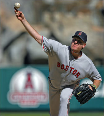 Back in the postseason Schilling's ALDS start against the Angels was a beauty; he pitched seven scoreless innings, allowing just six hits and one walk on the way to a Boston victory in Game 3 and series sweep.