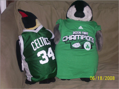 Heather delivered us this 'cool' fashion collection. Send us your Celtics tribute photos!