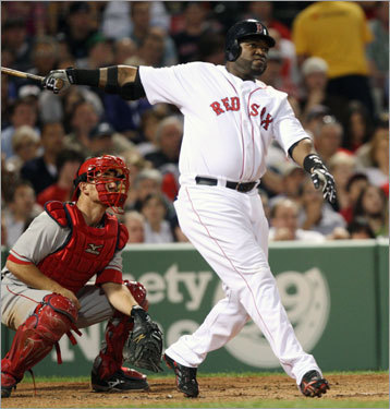 David Ortiz, DH First-half statistics: Avg. HRs RBIs Runs 2B .252 13 43 36 10 Your turn: <!-- // define variables var date = new Date(); var current_time = date.getTime(); // write SCRIPT tag to browser document.writeln(' '); // -->