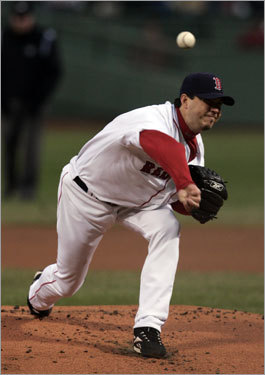 Josh Beckett, SP First-half statistics: W-L ERA IP K BB 7-5 3.73 94 97 19 Your turn: <!-- // define variables var date = new Date(); var current_time = date.getTime(); // write SCRIPT tag to browser document.writeln(' '); // -->
