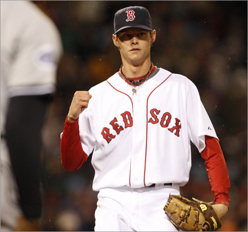 Clay Buchholz, SP First-half statistics: W-L ERA IP K BB 2-3 5.53 42.1 43 20 Your turn: <!-- // define variables var date = new Date(); var current_time = date.getTime(); // write SCRIPT tag to browser document.writeln(' '); // -->