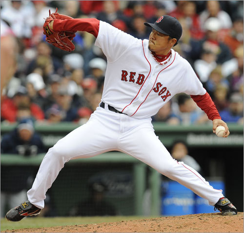 Hideki Okajima, RP First-half statistics: W-L ERA IP K BB 1-2 3.00 33 33 11 Your turn: <!-- // define variables var date = new Date(); var current_time = date.getTime(); // write SCRIPT tag to browser document.writeln(' '); // -->