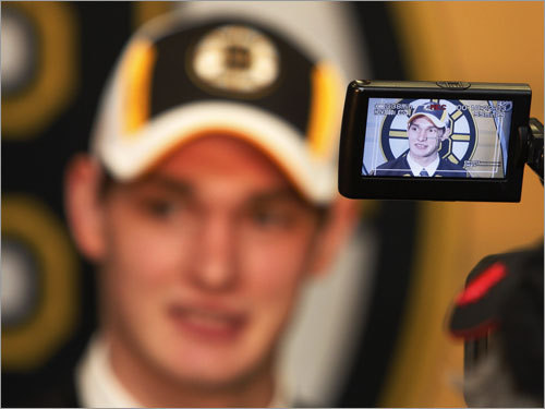 In focus: 2008 Bruins draft picks While we're waiting for the Bruins to hold their prospect development camp (July 8-12 at Ristuccia Arena, Wilmington), we take a look back to last Saturday's NHL Draft in Ottawa, where the Bruins went on the offensive, choosing forwards with five of their six picks. Here's a glance at the new Bruins, all of whom will be in Wilmington.