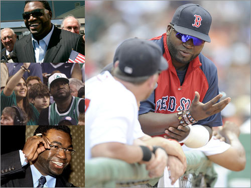 No Papi in June David Ortiz' activities included (left, from top) becoming a US citizen, watching the Celtics win the NBA title and speaking at a UNICEF dinner, but the tendon he injured May 31 (right) kept him out of game action for all of June.