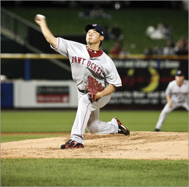 Dice-K misses time Daisuke Matsuzaka threw five innings in a rehab start against Philadelphia's AAA affiliate in Allentown, Pa. on June 16. He was placed on the DL with a strained shoulder on May 30, but rebounded to pitch five scoreless innings against Houston on June 27 for his ninth win of the year.