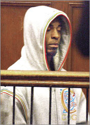 Andrews during his arraignment in Lowell in February.