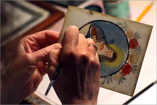 Linda M. Abrams details a reverse glass painting, an art that originated in Italy during the 13th century.