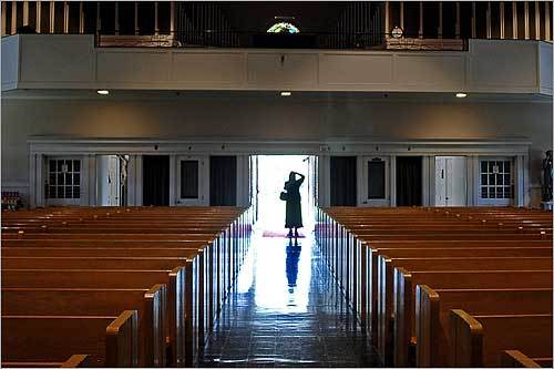 St. Casimir in Brockton, one of the last two parishes in the archdiocese serving Lithuanian-Americans, is closing. Regina Svelnis-Dapsys of Brockton took a photo of the sanctuary after the last service.