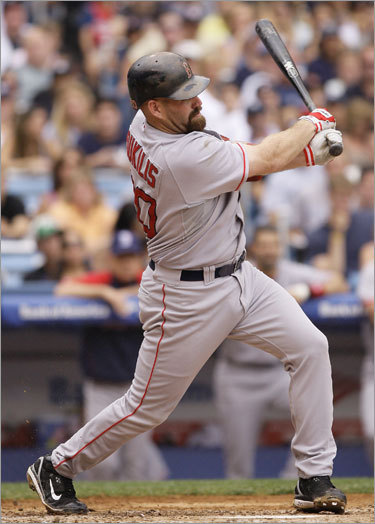 Kevin Youkilis, 1B Statistics through Saturday: Avg. HRs RBIs Runs SO .308 13 53 49 57 Youkilis, who will be appearing in his first All-Star game, received 2,858,130 votes to finish ahead of Minnesota's Justin Morneau. It marks the third straight season that a Red Sox player was elected at first base with David Ortiz winning the voting in 2006 and 2007.