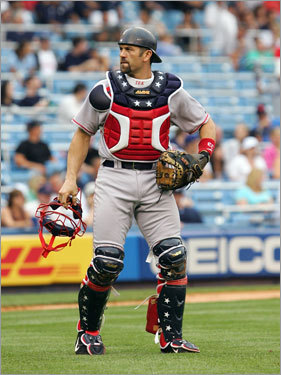 Jason Varitek, C Statistics through Saturday: Avg. HRs RBIs Runs SO .219 7 27 18 70 Varitek will be making his third All-Star appearance. He was selected in the final man online voting in 2003 and was an elected starter behind the plate in 2005. He placed second in the manager/coach/player voting at catcher to Minnesota's Joe Mauer.