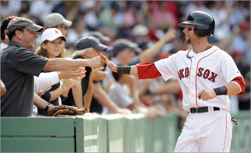 Dustin Pedroia, 2B Statistics through Saturday: Avg. HRs RBIs Runs SO .313 9 39 60 32 Pedroia beat out Ian Kinsler with 2,492,698 votes in earning his first All-Star selection. He is the second Red Sox second baseman to be elected since fan balloting resumed in 1970, joining Mark Loretta in 2006.