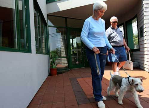 Edward and Linda Begen traveled from Winchendon to adopt Mollie, a 7-year-old dog, from the new location of the Northeast Animal Shelter in Salem. They were looking for a dog to keep them company in their retirement.