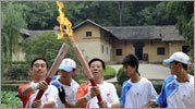Follow the torch from Olympia, Greece en route to Beijing
