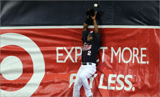 The ad in right field at the MetroDome seems right on target: The Twins expect more and pay less for their players.