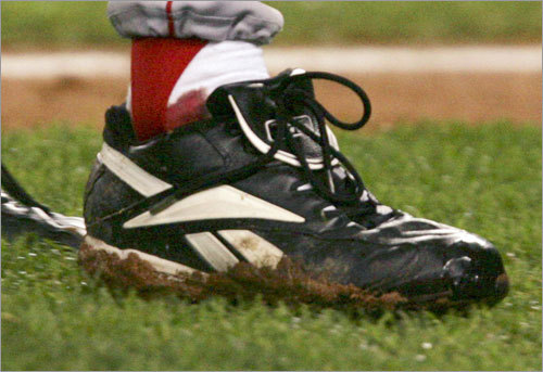 The Bloody Sock Curt Schilling, shot full of painkiller in a surgically repaired right ankle bleeding through his sock, holds the Yankees to one run on four hits and no walks in seven innings of Game 6 of the 2004 ALCS, drawing the Sox even at three games apiece in the ALCS.