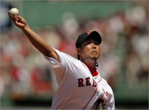 Daisuke Matsuzaka started for the Red Sox against the Orioles on Sunday afternoon.