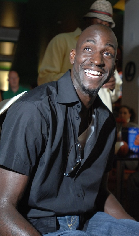 Kevin Garnett at Celtics DVD release party.
