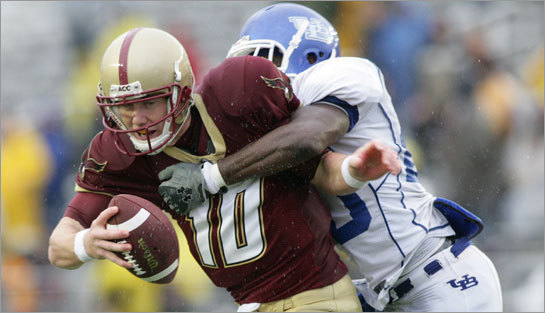 Boston College quarterback Chris Crane is armed and ready to replace Matt Ryan.