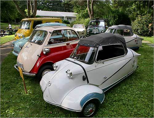 With gas prices soaring, microcars are gaining new popularity. On July 12, microcar enthusiasts hailing from as far away as California and Western Canada gathered in Newton Centre for auto collector Charles Gould's annual microcar event. Story Micros come back to the future