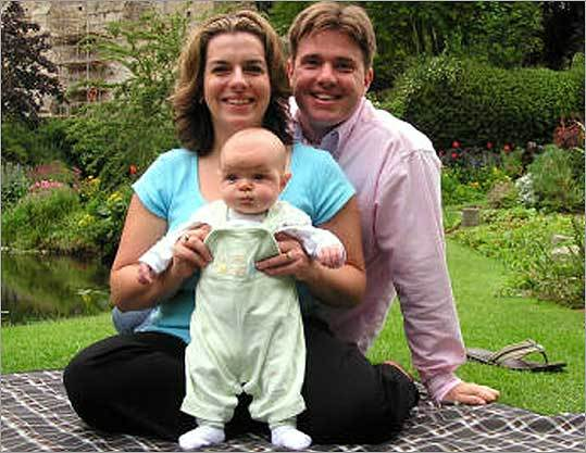 Rachel and Neil Entwistle, with their daughter, Lillian, in a 2005 photograph. Rachel and Lillian were found dead in their Hopkinton home on Jan. 22, 2006.