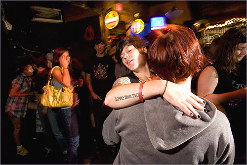 Nice tat: Hunter Jae Star of Jamaica Plain (facing the camera) danced with her best friend during Queeraoke at the Midway Cafe. See more pics from this event More info on the Midway Café SUBMIT Your nightlife photos! TALK What scene should we visit next?
