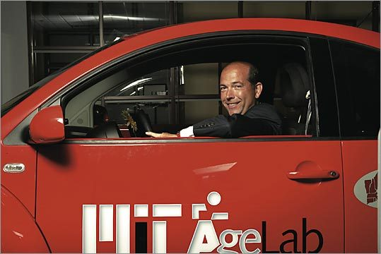 Joseph Coughlin and the MIT Agelab are studying experimental systems, such as touchscreens, that personalize cars and are using cameras to examine how older drivers use new technology.