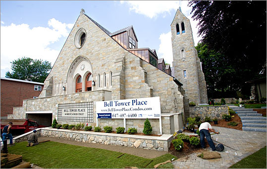St. Theresa Church in Watertown is being redeveloped into Bell Tower Place, 11 condos being developed by Phoenix Construction Group.