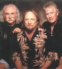 David Crosby (left), Stephen Stills, and Graham Nash played for nearly two hours.