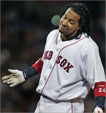 Wait, wait, wait. There's no way the Rangers would just give Murphy away. And it's ridiculous to think that anyone would deal a player equal to Manny Ramirez. Theo's really going to need to think outside the box for this one. How about: