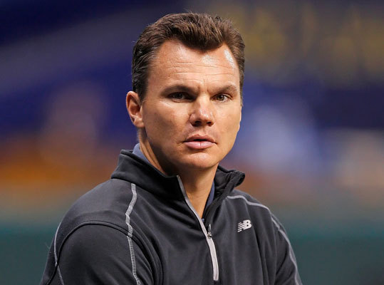 In what will surely be the signature deal of GM Ben Cherington's (left) career, along with a little help from team president Larry Lucchino we're sure, the Red Sox shipped big salaried stars Carl Crawford, Adrian Gonzalez, and controversial righthander Josh Beckett to the Los Angeles Dodgers on Saturday. The Red Sox-Dodgers blockbuster may be the biggest move in Boston history, but it's not the only major deal the team has made in the last 10 years. From moving Nomar and Manny out of town to bringing in Victor Martinez and John Olerud, here's a look back at the major in-season trades and acquisitions the Red Sox have made since John Henry, Tom Werner, and Larry Lucchino's first season in control of the team in 2003.