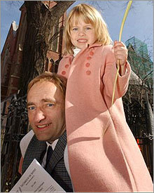 Clark Rockefeller of Beacon Hill with his daughter, Reigh, 7.