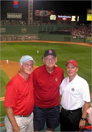 Ralph Magee of Fort Myers, Fla. enjoyed his 75th birthday at Fenway Park with sons Mike and Rick, who both live in Charlotte, N.C.