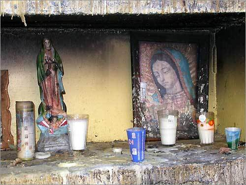 A highway shrine.