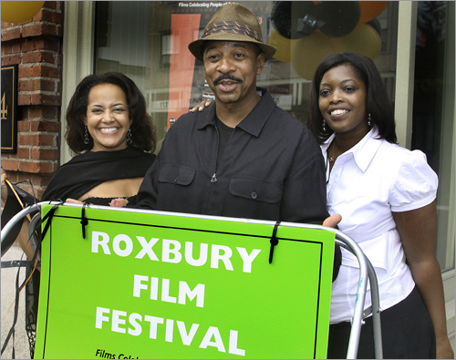 July 30 in Roxbury At the 10th Annual Roxbury Film Festival, from left: Lisa Simmons, CEO of Color of Film Collaborative, Actor Robert Townsend and Terri Brown, Program Manager of Arts, Culture & Trade Roxbury.