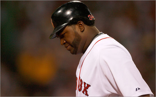 David Ortiz has seen fewer pitches to hit without Manny Ramirez behind him in the lineup.