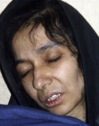 Aafia Siddiqui after her arrest in Afghanistan last month.