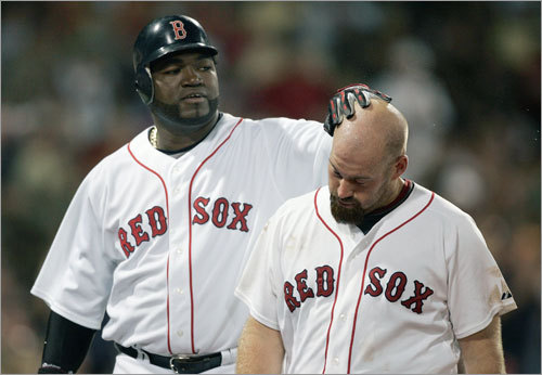 David Ortiz's hitting skill has been rubbing off on Kevin Youkilis, who had three doubles in an 8-4 Red Sox win.