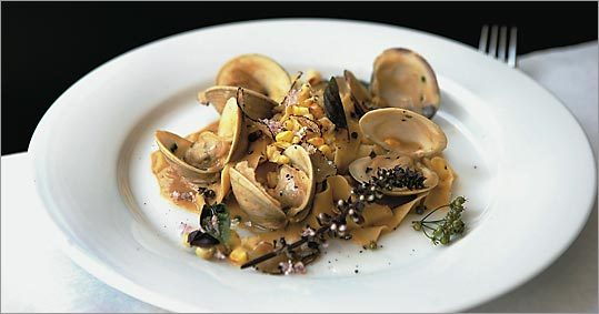 Roasted corn sauce stars in this pasta dish at Beacon Hill Bistro.